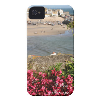 St Ives Harbour Pink Flowers Case-Mate iPhone 4 Case