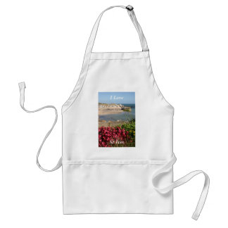 St Ives Harbour Pink Flowers Standard Apron