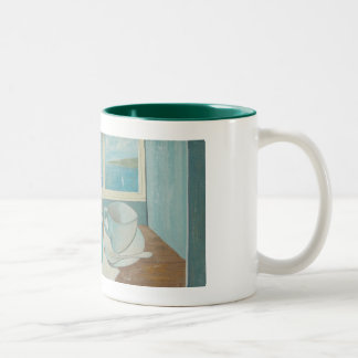 St Ives Mug: Vin Blanc. Two-Tone Coffee Mug
