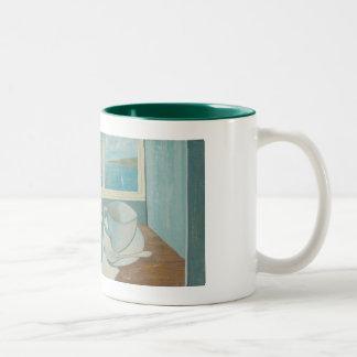 St Ives Mug: Vin Blanc. Two-Tone Coffee Mug