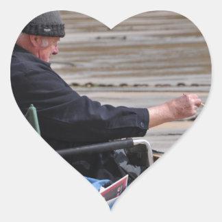 st ives painter heart sticker