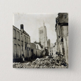 St. Jacob's Church, Ypres, June 1915 15 Cm Square Badge