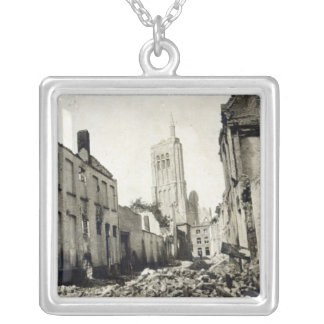 St. Jacob's Church, Ypres, June 1915 Silver Plated Necklace