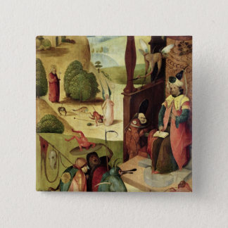 St.James and the Magician 15 Cm Square Badge