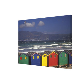 St. James Bay Bathing Boxes, near Capetown, Canvas Print