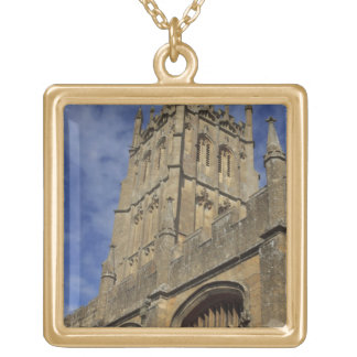 St. James Church Tower, Chipping Camden Gold Plated Necklace