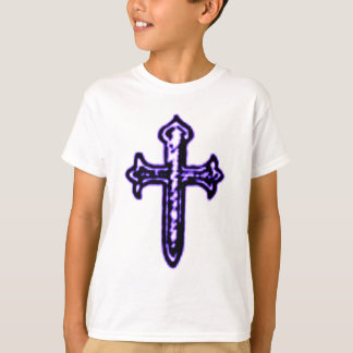 St James Cross in Purple Tint T-Shirt