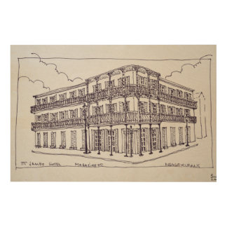 St. James Hotel | French Quarter, New Orleans Wood Print