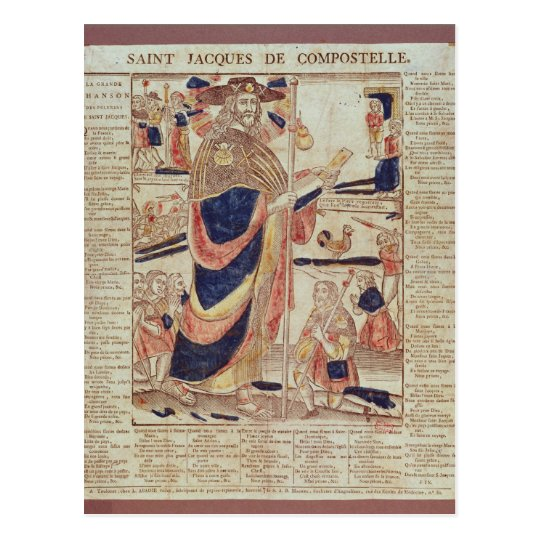 St. James of Compostela, c.1824 Postcard