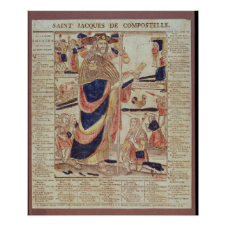 St. James of Compostela, c.1824 Poster