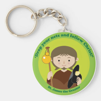 St. James the Greater Basic Round Button Key Ring