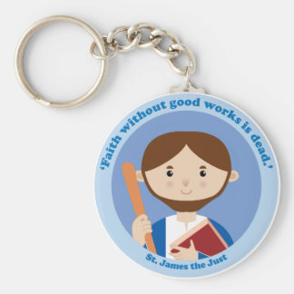 St. James the Just Basic Round Button Key Ring