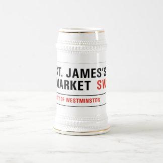 St. James's Market, London Street Sign Beer Steins