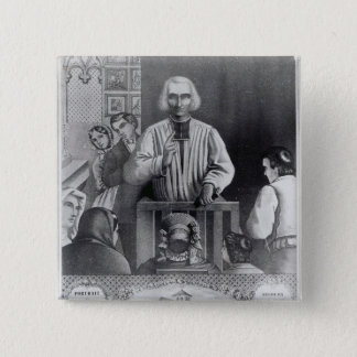 St. Jean-Marie Vianney  preaching, 19th century 15 Cm Square Badge