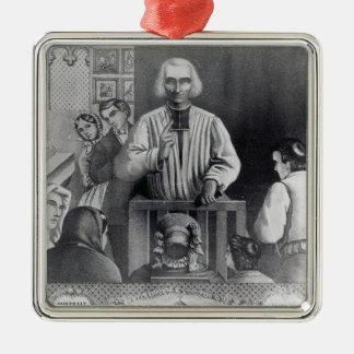 St. Jean-Marie Vianney  preaching, 19th century Christmas Ornament