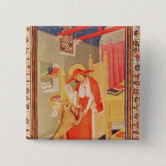 St. Jerome 15 Cm Square Badge