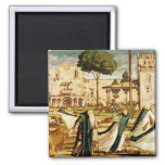 St. Jerome and Lion in the Monastery, 1501-09 Square Magnet