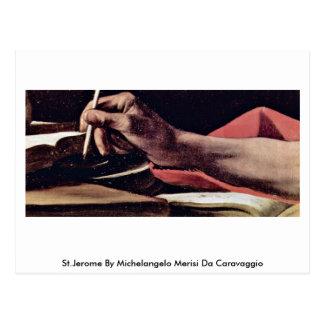 St.Jerome By Michelangelo Merisi Da Caravaggio Postcard