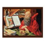 St. Jerome By Reymerswaele Marinus Claesz. Van (Be Postcard