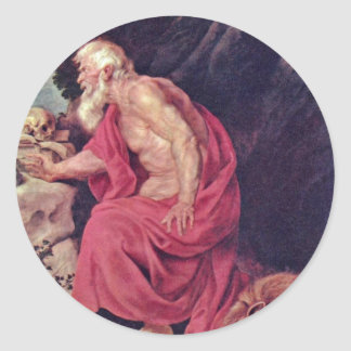St. Jerome By Rubens Peter Paul (Best Quality) Sticker