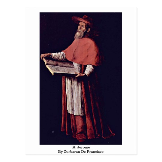 St. Jerome By Zurbaran De Francisco Postcard