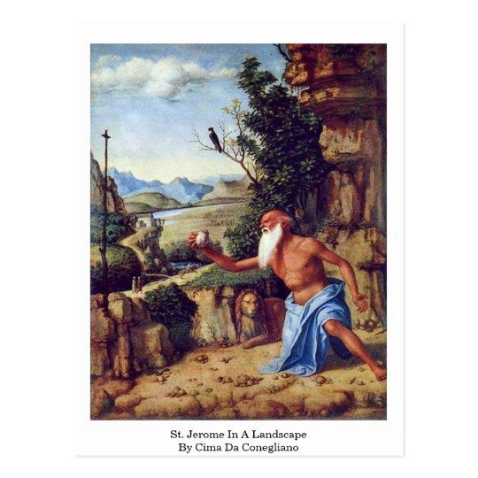 St. Jerome In A Landscape By Cima Da Conegliano Postcard