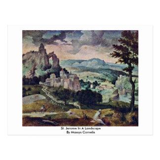 St. Jerome In A Landscape By Massys Cornelis Postcards