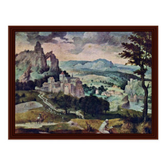 St. Jerome In A Landscape By Massys Cornelis Post Cards