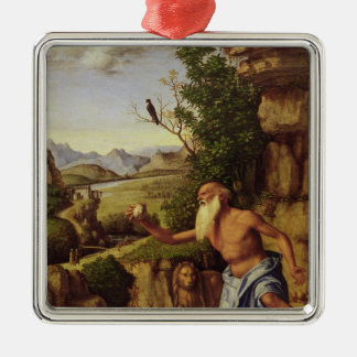 St.Jerome in a Landscape, c.1500-10 Christmas Ornament