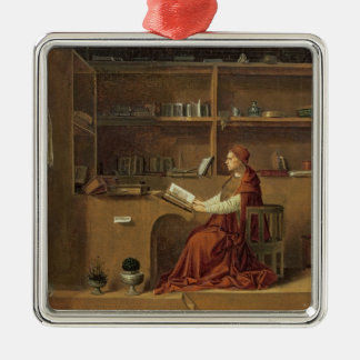 St. Jerome in his study, c.1475 2 Christmas Ornament