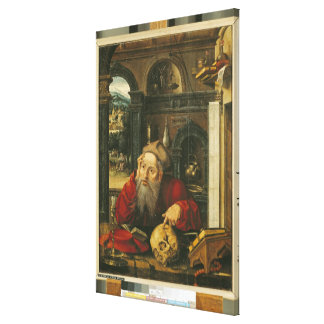St. Jerome in his Study Canvas Print
