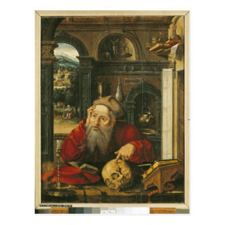 St. Jerome in his Study Postcard