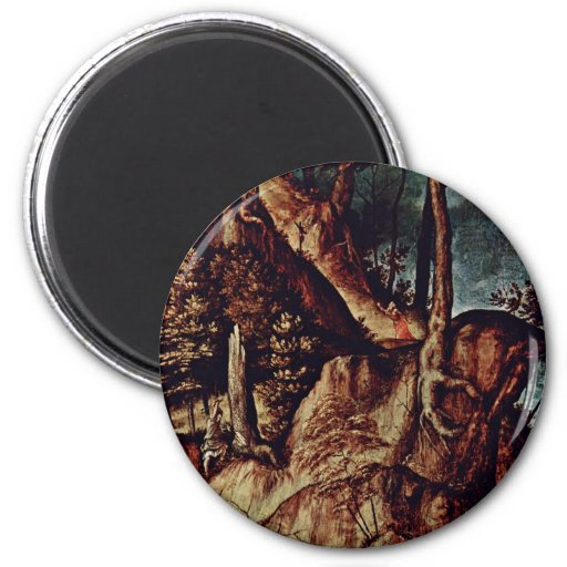 St. Jerome In The Desert Detail By Lotto Lorenzo ( Refrigerator Magnets