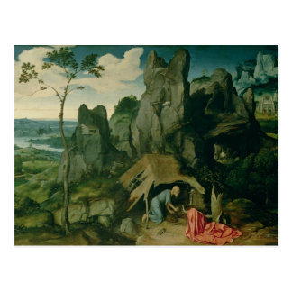 St. Jerome in the Desert (oil on panel) (see also Postcard