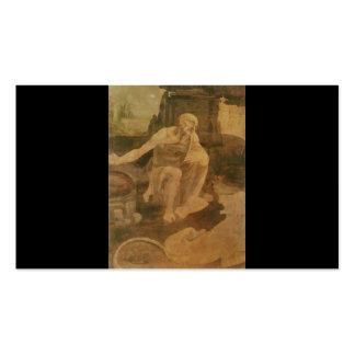 St. Jerome in the Wilderness by Leonardo Da Vinci Pack Of Standard Business Cards