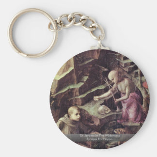 St Jerome In The Wilderness By Lippi Fra Filippo Key Chain