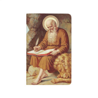 St. Jerome writing Scripture with lion Journal