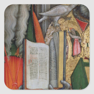 St. Jerome's Bible and St. Gregory's Dove, detail Square Sticker
