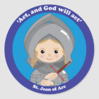 St. Joan of Arc Classic Round Sticker