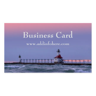 St. Joe Michigan Lighthouse Business Card