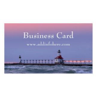 St. Joe Michigan Lighthouse Business Card