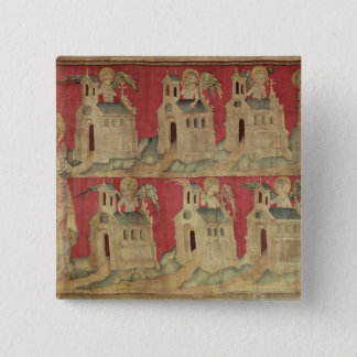 St. John and the Seven Churches of Asia 15 Cm Square Badge