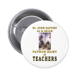 ST. JOHN BAPTIST de la SALLE 6 Cm Round Badge