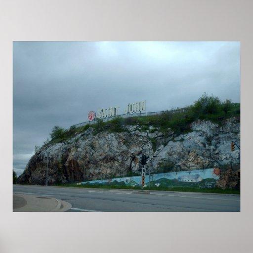 St. John, Canada landscape Poster