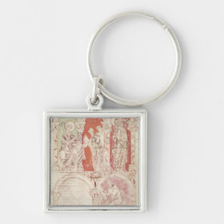 St. John Cassian writing and monks offering Key Ring