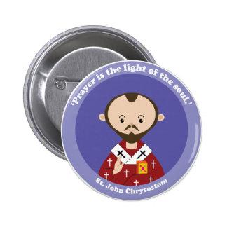 St. John Chrysostom 6 Cm Round Badge
