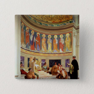 St John Chrysostom  exiled by Empress Eudoxia 15 Cm Square Badge