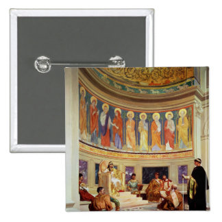 St John Chrysostom  exiled by Empress Eudoxia 15 Cm Square Badge