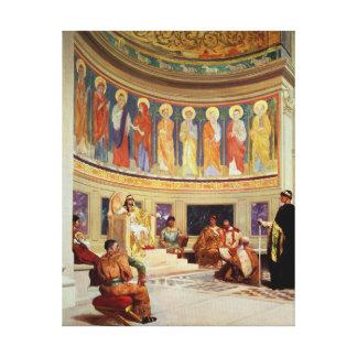 St John Chrysostom  exiled by Empress Eudoxia Canvas Print