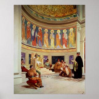 St John Chrysostom  exiled by Empress Eudoxia Print